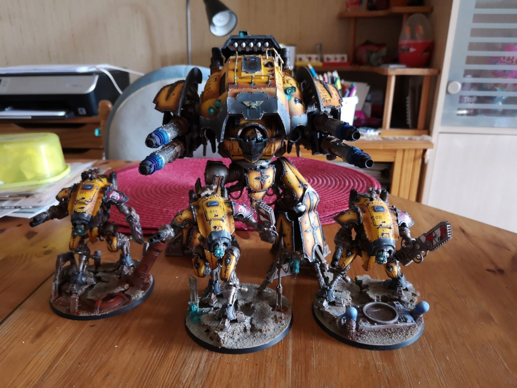 Iron hands, chevaliers, legion cybernetica et maintenant titan warlord  - Page 8 Img_2031