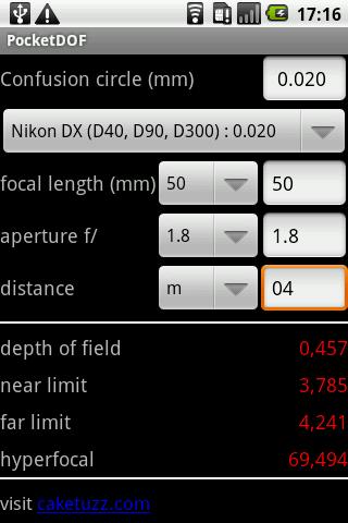 [SOFT] POCKETDOF : App pour photographe [Payant] Pocket10