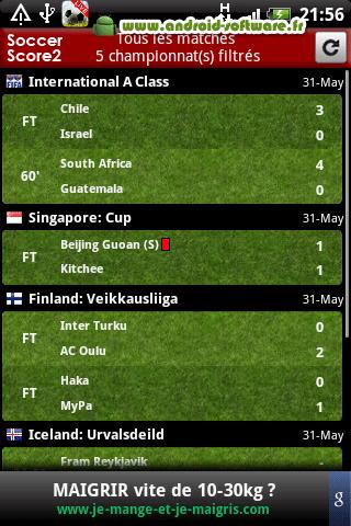 [SOFT] RESULTAT FOOTBALL 2 : Tous les scores des matchs [Gratuit] Result10