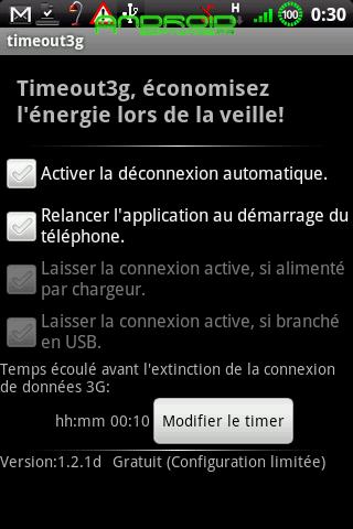 [SOFT] TIMEOUT 3G : Couper la connexion de données en veille [Gratuit/Payant]  Timeou10