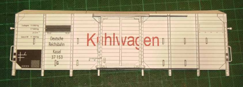 Kühlwagen G10 der DRG - fertig Aufbau10