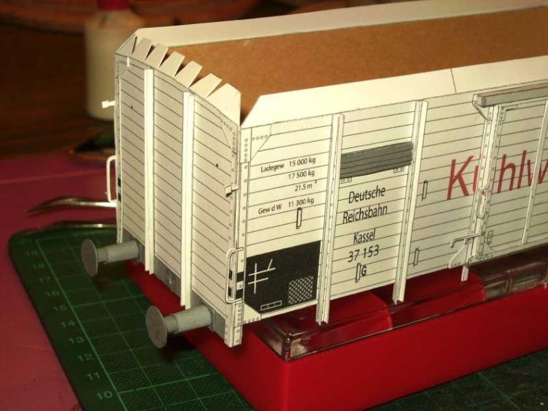 Kühlwagen G10 der DRG - fertig Aufbau12