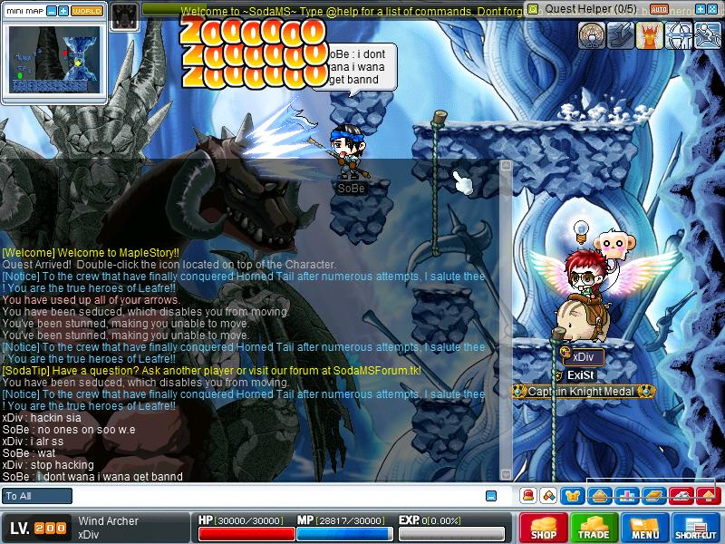 Hacker . i warned him . he still continue to hack Maple013