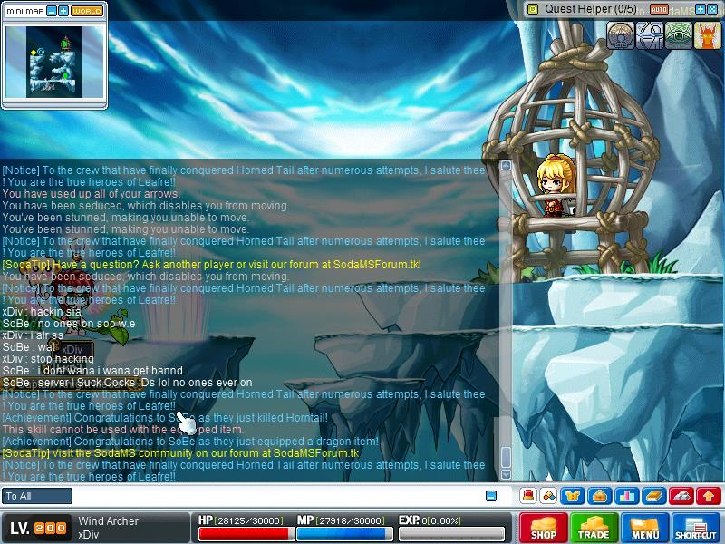 Hacker . i warned him . he still continue to hack Maple014