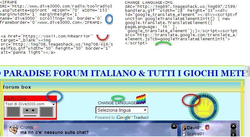 SCRIPT E FRAME - METTERLI SU UN'UNICA LINEA Screen11