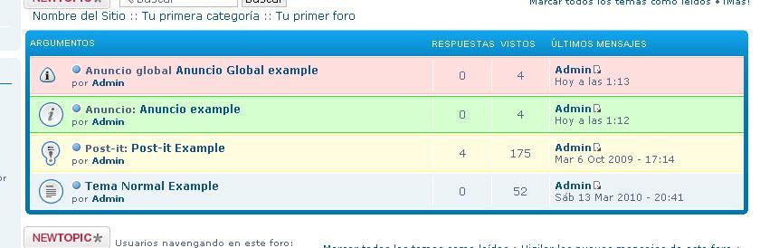 """Colorear """"Anuncios Globles"""" """"Post-It"""" y demas. Exampl10"""
