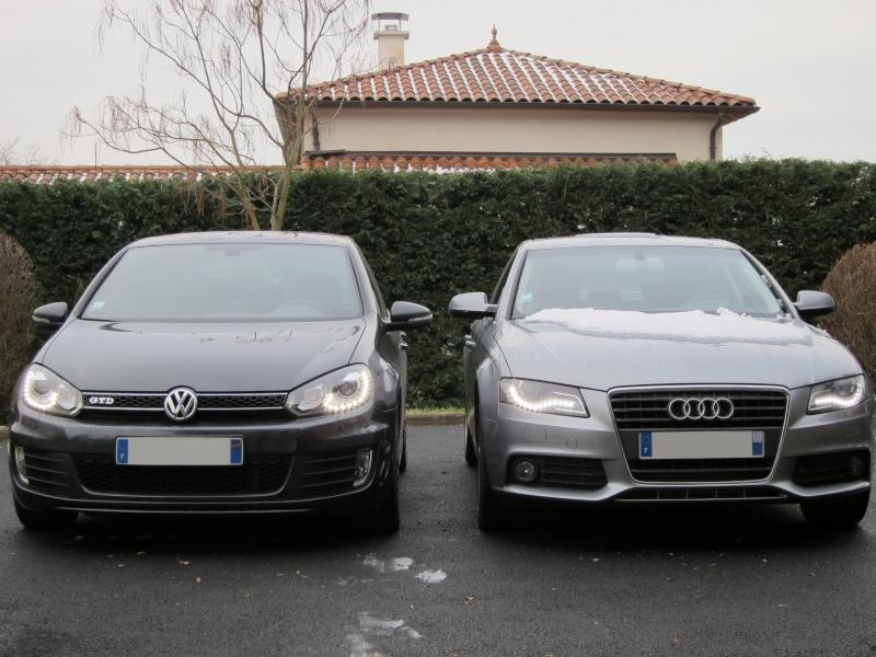 Feux avant à LED : le match Golf GTD vs Audi A4 Img_0026