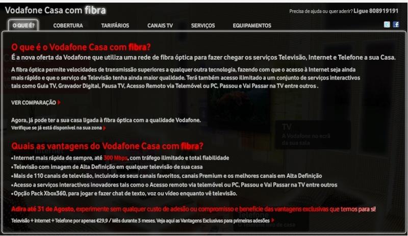 Serviço Vodafone Fibra Vfibra11