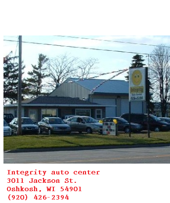 Integrity auto center. Oshkosh Untitl11