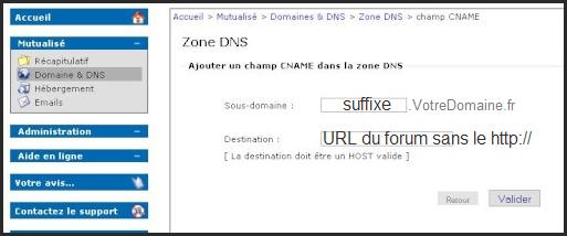 Reconfigurer un nom de domaine externe pour qu'il dirige vers votre forum 03-11-14
