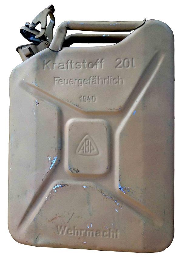 Identification jerrycan 20 litre tout en aluminium  Alu_je10