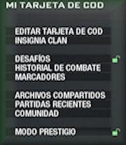 Tarjeta COD: Black Ops.
