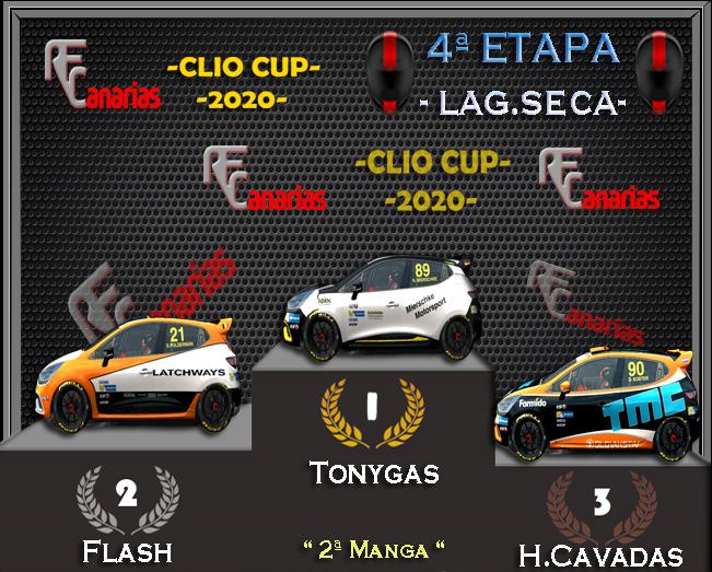 4ª ESTAPA  CLIO CUP (LAGUNA SECA-USA-) Podium14