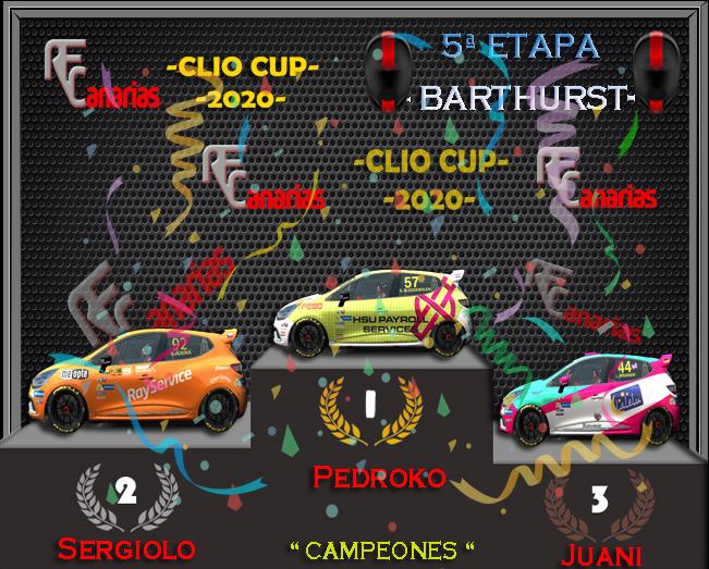 5ª ETAPA CLIO CUP BARTHURST Podium17