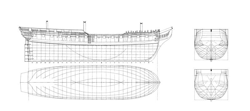HMS DIANA fregata inglese da 38 cannoni Linee_10