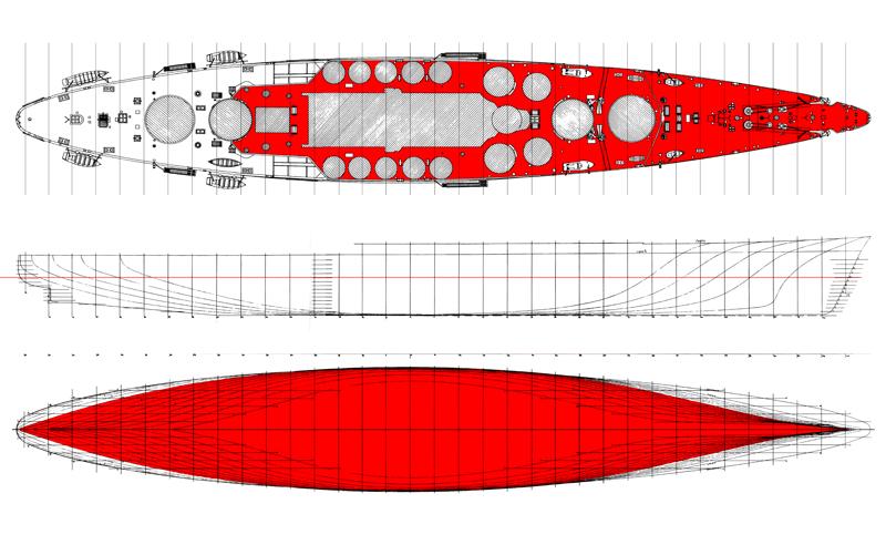 Doria - Corazzata Andrea Doria 1941 Linee_11
