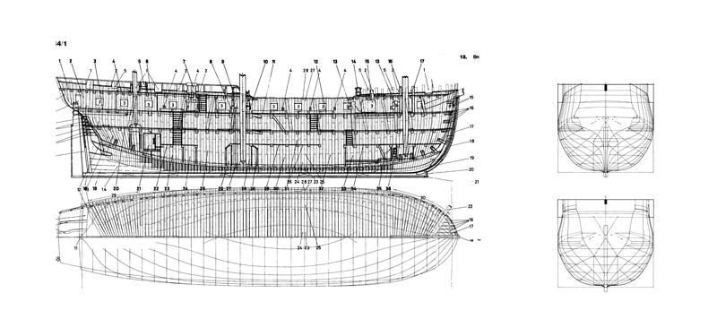 HMS DIANA fregata inglese da 38 cannoni Piani_10