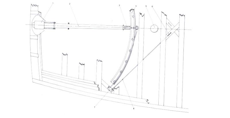Sezione timone vascello del XVIII-XIX secolo - Pagina 2 Timone12