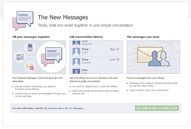 Upcoming Facebook Email Mail10
