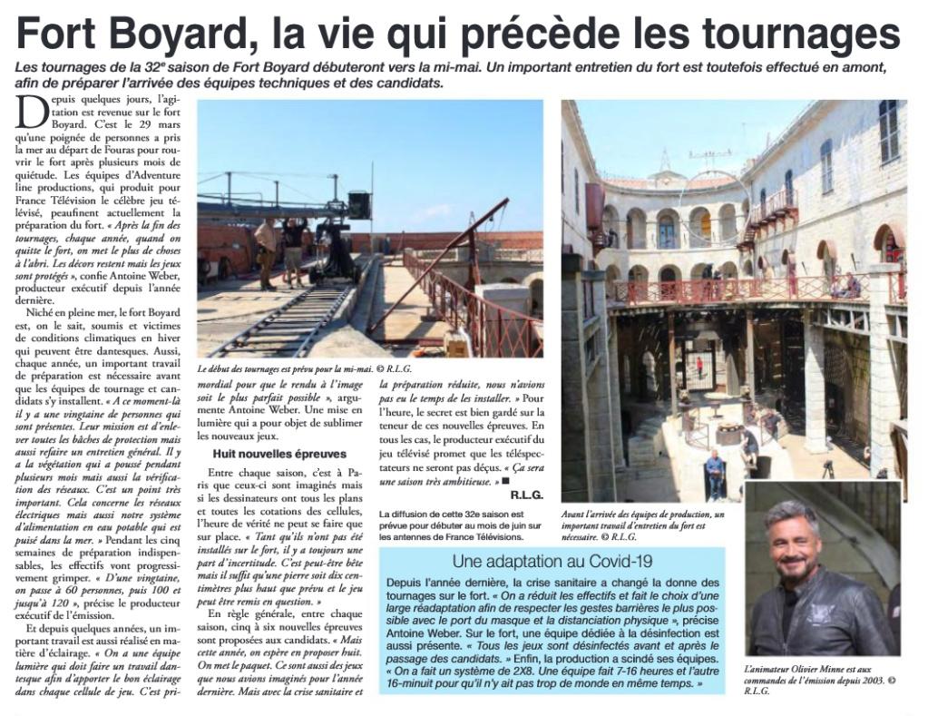 Nouvelles épreuves et aventures de Fort Boyard 2021 Journa10