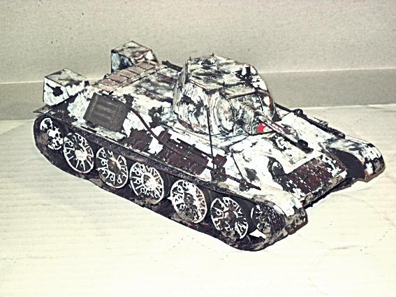 Fertigbaubericht T 34/76 mit Minenroller Zvezda 1:35 05_t3410