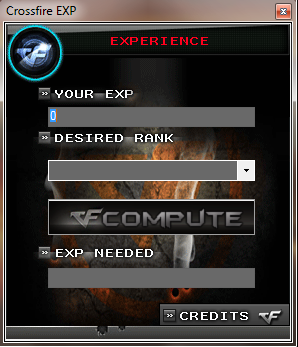 CrossFire - Calculadora EXP. Cfexpc10