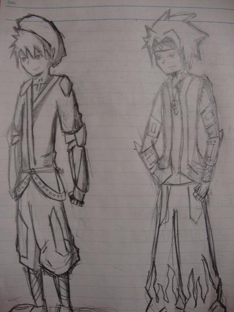 My FEZ drawings and Saku Dsc00712