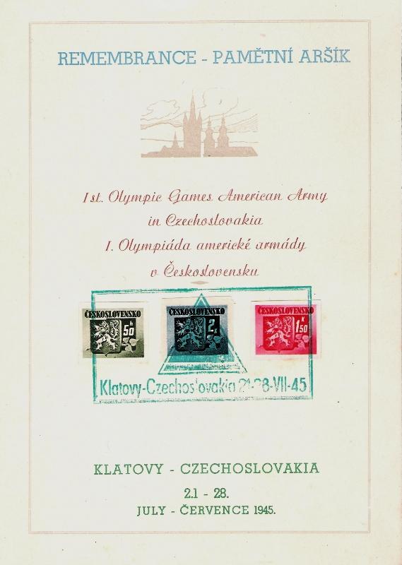 Sonderbelege aus der Tschechoslowakei Olymp10