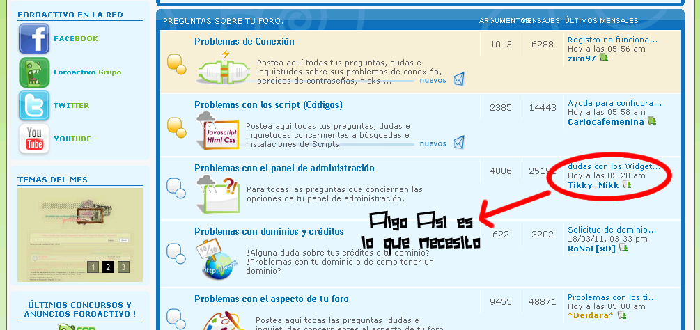 AYUDA PORFAVOR!! ¿Como hago para ver las ultimas respuestas de los foros pero sin el widget?+ Foto Sin_ta13