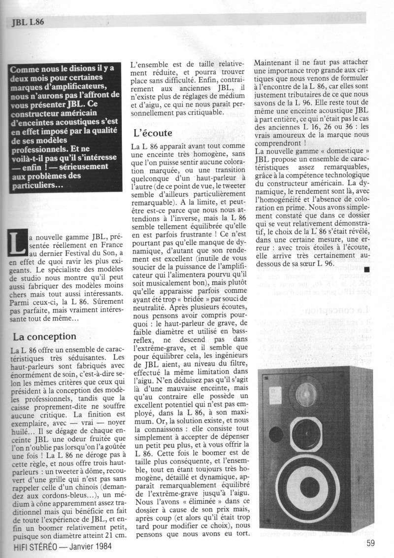 Modèle L86  (années 80)  Jbl_l810