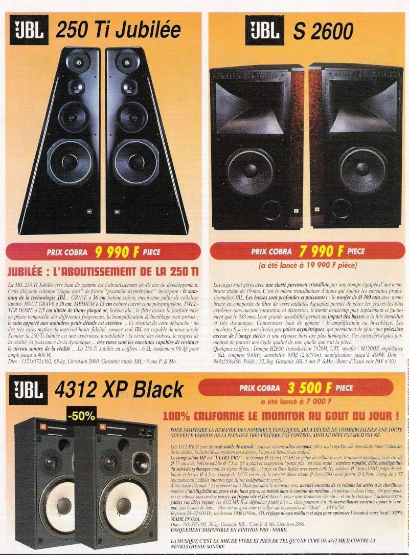 PUB JBL   250Ti Jubilée - JBL S 2600 - JBL 4312 XP Black Pub_co10