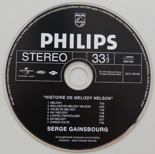 "Comparons differentes éditions CD de ""Histoire de Melody Nelson"" Melody11"