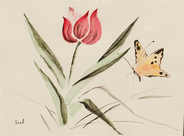 Mes premières aquarelles, par Isabelle. - Page 2 Tulipe10