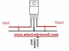 Simple power supply 5 volt 7805ca10