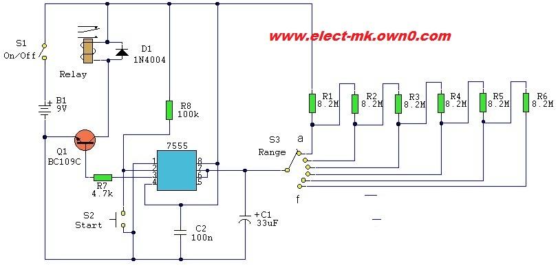 Timer Circuit 5 to 30 min Ic55510