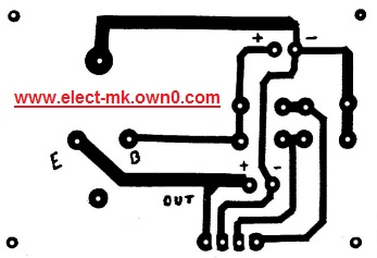 Simple power supply 5 volt Pcb78010