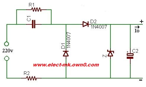 Direct power supply from 220Vac without a transformer Withou10