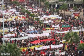 Massive protest against Spain in Morocco Casabl10