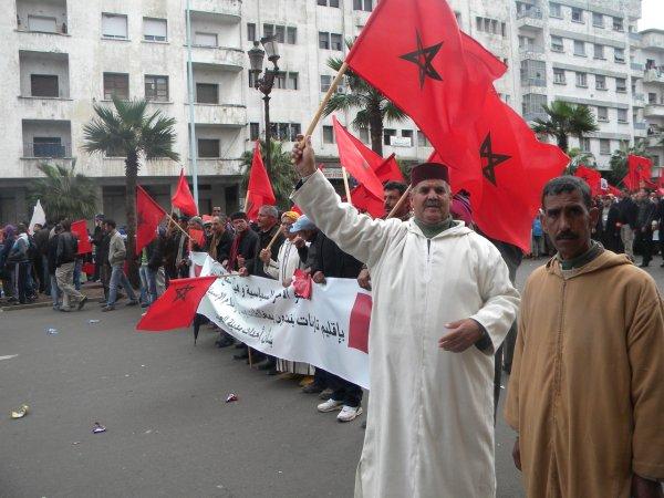 Massive protest against Spain in Morocco Casabl12