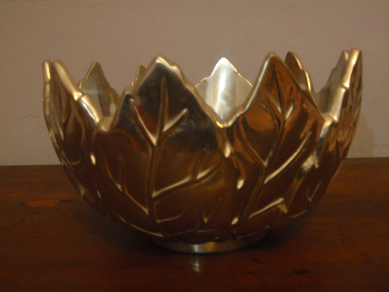Portmeirion silvered glass bowl Pc111113