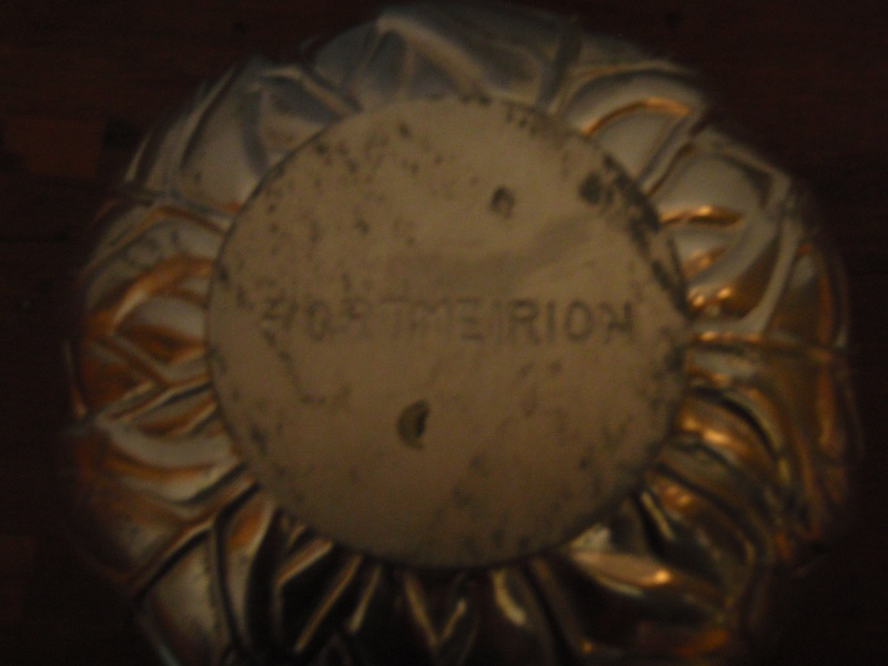 Portmeirion silvered glass bowl Pc111116