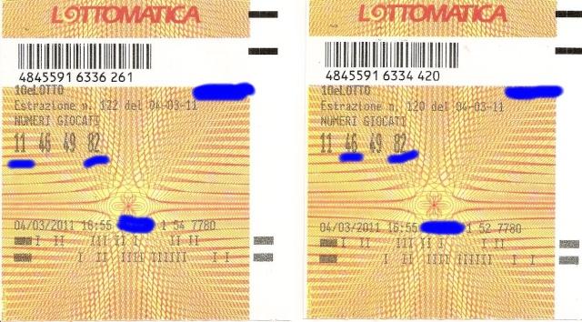10 e Lotto - ogni 5 minuti - esiti del 10/03/11 Scansi13