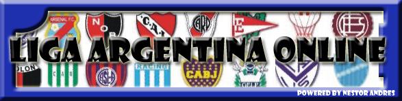 <marquee>Liga de Fútbol Argentina Online</marquee>