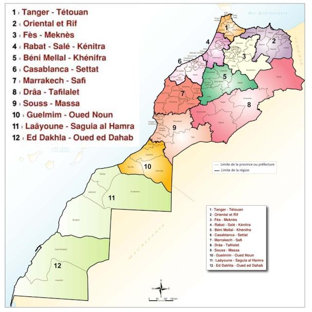 Nouvelle Carte Régionale du Maroc * التقسيم الجديد للجهات بالمغرب Ragion11