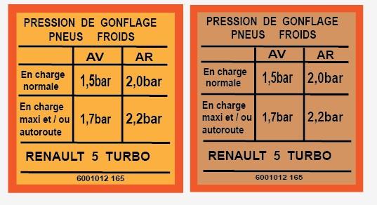 Autocollant pression pneus Double11