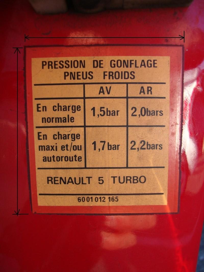 Autocollant pression pneus Pressi10