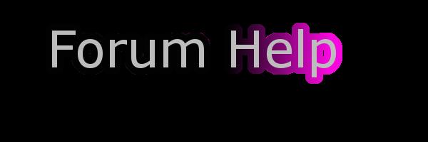 Forum Help