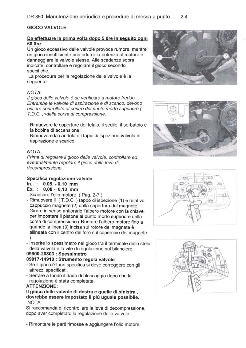Regolazione Valvole Scansi13