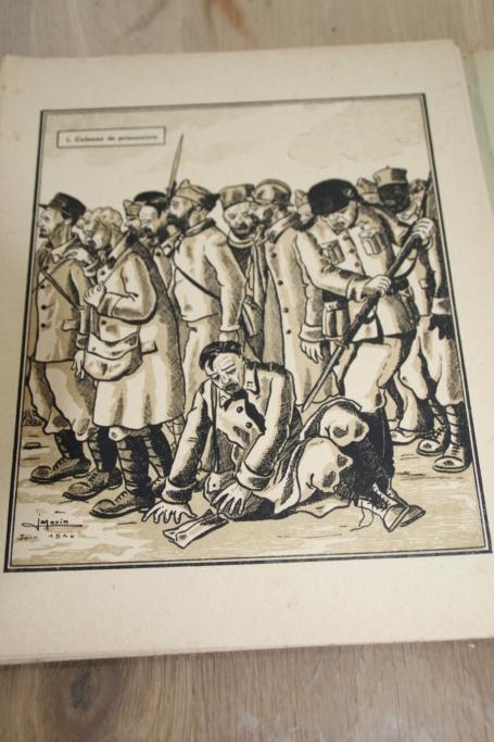 """Planche complète des dessins de Jean MORIN """"Stalag de Réfractaires"""" -ALPINS-AVRIL1 - BAISSE DU PRIX Img_3032"""