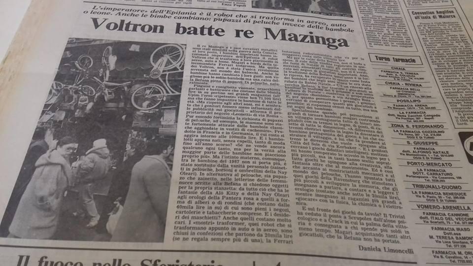 VOLTRON BATTE MAZINGA DAL MATTINO ANNO 1987 57053710